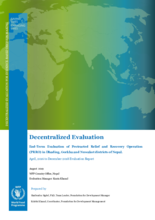 Nepal, Protracted Relief and Recovery Operation (200875): Evaluation