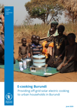 E-Cooking - Providing off-grid solar electric cooking to urban households in Burundi