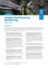 WFP Myanmar - Yangon Food Security Monitoring - May 2021