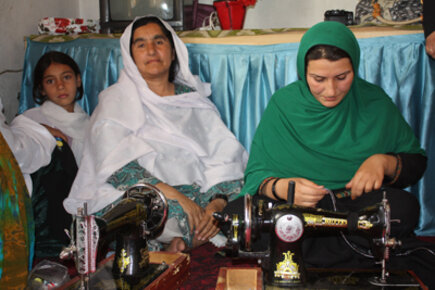 Afghan Women Learn To Sew To Feed Their Families