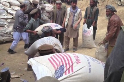 Food Rushed In For Survivors Of Landslides In Afghanistan