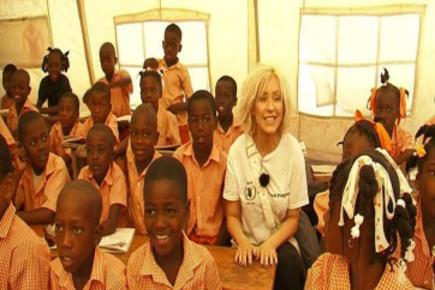 WFP Ambassador Christina Aguilera Visits Haiti