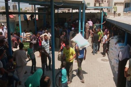 WFP and UNRWA Gaza Food Distribution (For the Media)