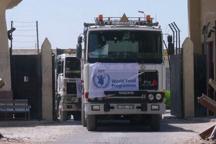 WFP Humanitarian Convoy Delivers Food to Gaza through Egypt's Rafah Crossing (For the Media)