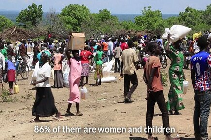 South Sudanese Fleeing Hunger and Conflict in Uganda