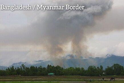 Rohingya fleeing Myanmar's Northern Rakhine State