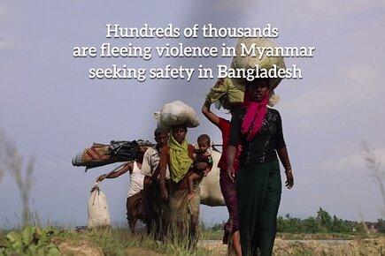Hundreds of Thousands Fleeing Myanmar