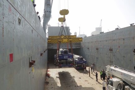 Four USAID-Funded Mobile Cranes Arrive at Yemen's Largest Red Sea Port (For the Media)