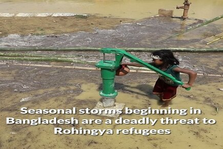 Rohingya Refugees Threatened by Seasonal Storms in Kutupalong Camp