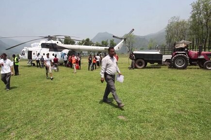 UN World Food Programme Airlifts Child Monks in Nepal (For the Media)