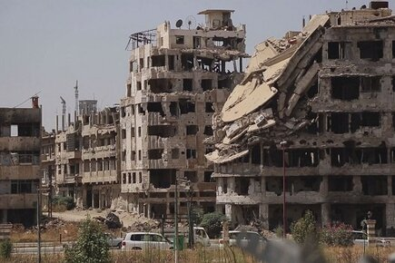 Living in the Rubble, Ration Cuts Add to Despair in Syria (For the Media)
