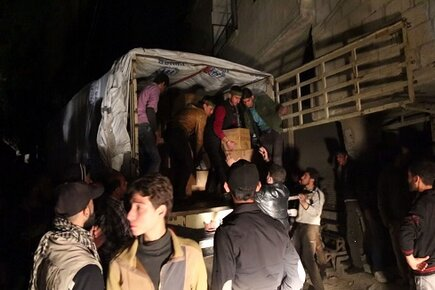 Breakthrough in Humanitarian Access as WFP Delivers Life-Saving Food to Five Besieged Towns in Syria (For the Media)
