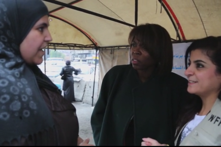 WFP Head Meets Displaced Families Inside Syria