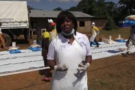 WFP Executive Director Ertharin Cousin Visits Ebola-Hit Sierra Leone
