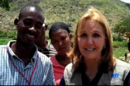 Josette Sheeran Visits Food for Work Project in Haiti