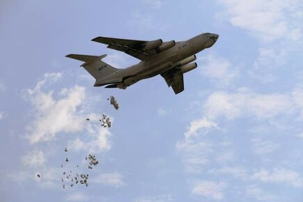 Airdrops Bring Food To Remote Villages In South Sudan