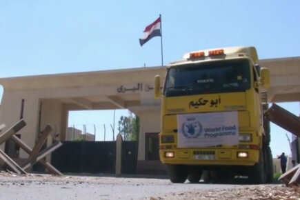 WFP Trucks Deliver Food Assistance To Gaza Via Rafah Crossing