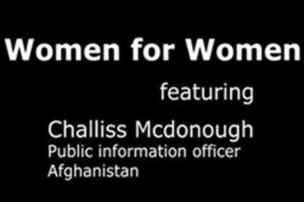Women For Women: Challiss McDonough In Afghanistan