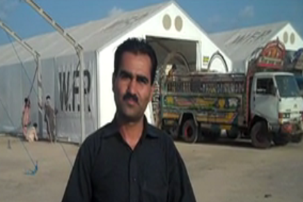 WFP warehouses set up for flood victims in Pakistan