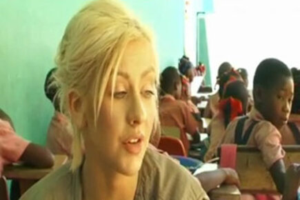 Christina Aguilera visits Haitian schools with WFP
