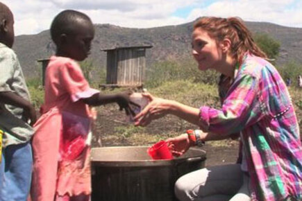 Drew Barrymore Makes A Difference In Kenya
