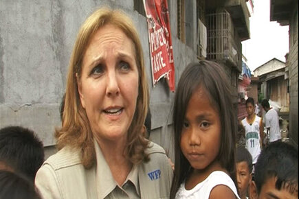 Josette Sheeran in the Philippines