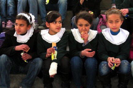 Biscuits From Gaza Feed West Bank Schoolkids