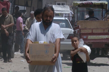 WFP and partners reach more residents of Gaza with life saving food Location: Gaza (For the Media)