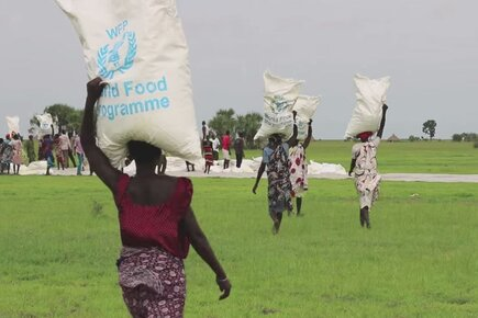 WFP Airdrops, Airlifts Food To Reach Displaced In South Sudan