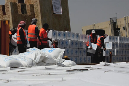 WFP Provides Food for Families Fleeing Fighting in Iraq