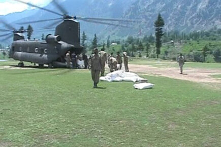 Airlifting Food To Pakistan Flood Victims