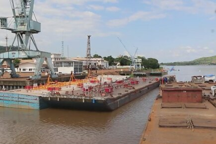 WFP River Convoy Carrying 1800 MT Of Rice Reaches Bangui