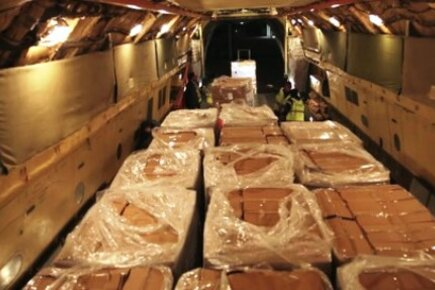 WFP Airlifts Urgently Needed Food To Syria From Iraq (For The Media)
