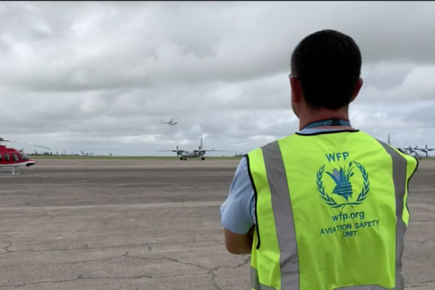 WFP News Footage Shows Arrival of WFP Helicopters, Aerials in Beira, Mozambique (For The Media)