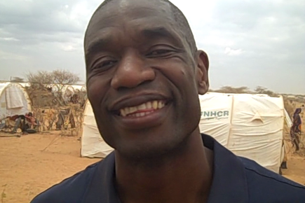 Basketball Star Dikembe Mutumbo Visits World's Largest Refugee Camp