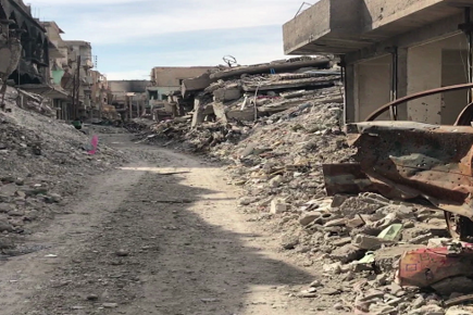60 Seconds Walk in Raqqa