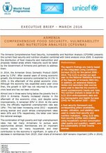 Armenia - Comprehensive Food Security, Vulnerability and Nutrition Analysis (CFSVNA), April 2016