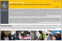 WFP in Cox's Bazar - Perception Analysis - COVID-19 Response
