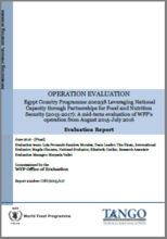 Egypt CP 200238 (2013-2017) Leveraging National Capacity Through Partnerships For Food And Nutrition Security: An Operation Evaluation