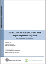 Operation Evaluations Series, Regional Synthesis 2013-2017: West and Central Africa Region