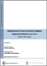 Operation Evaluations Series, Regional Synthesis 2013-2017: Southern Africa Region