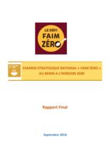 Zero Hunger Strategic Review - Benin 2018