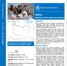 WFP Libya Emergency Situation Report #13, 08 June 2017