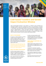 Cash-based Transfers and Gender Impact Evaluation Window: Brief