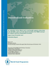 Kenya, General Food Distribution Cash Modality scale up for the refugees and host community in Kakuma and Dadaab Camp: an evaluation