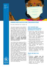 WFP India - COVID-19 Gender and Protection Considerations