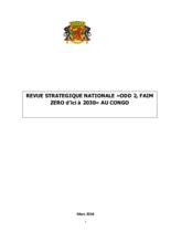 Republic of Congo Zero Hunger Strategic Review 2018