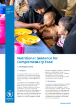 Nutritional Guidance for Complementary Food