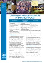 Overview of Nutrition Activities in Bhutan 2019-2023