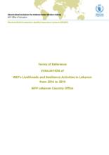 Lebanon, Livelihoods and Resilience activities (2016-2019): evaluation